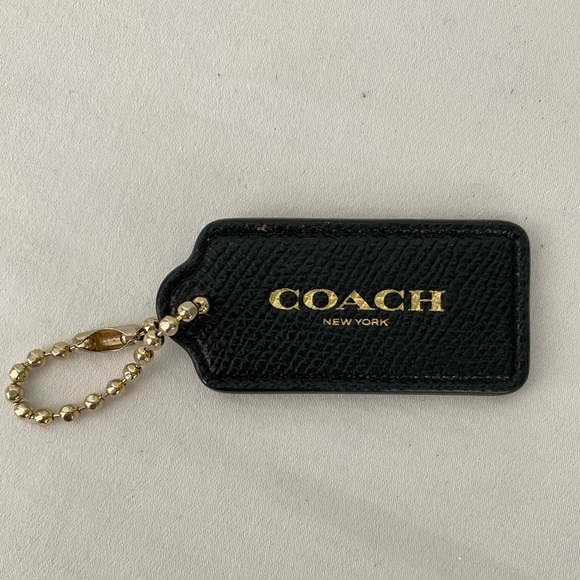 Coach Accessories - SOLD - Coach Black Leather Keychain